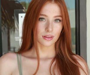 redhead, girl, and hair image
