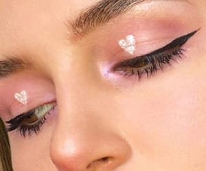 makeup, pale, and pink image