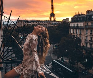 girl, sunset, and goals image