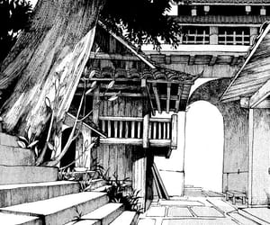 aesthetic, anime, and monochrome image