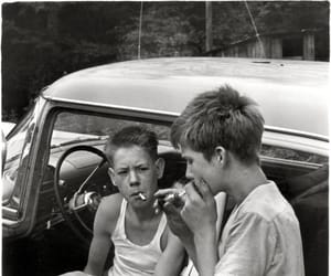 boy, cigarette, and smoking image