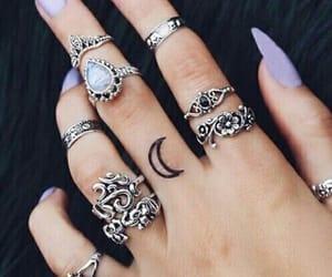 magic, moon, and tattoo image