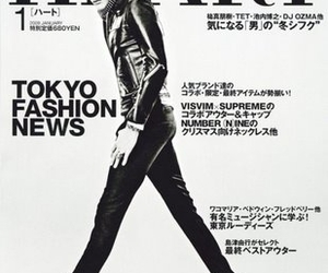 black and white, tokyo, and fashion image