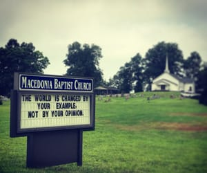 funny sign, sign, and church sign image