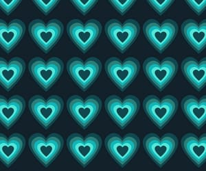blue, hearts, and neon image