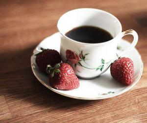 strawberry, cup, and vintage image