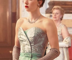 the crown, princess margaret, and dress image