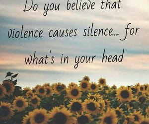 believe, silence, and in your head image