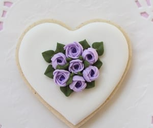 cookie, flowers, and heart image