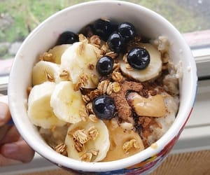 healthy, oatmeal, and vegan image