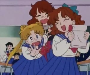 girls, sailor moon, and school image
