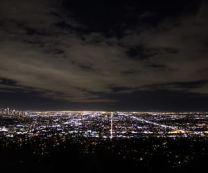 california, city, and lights image