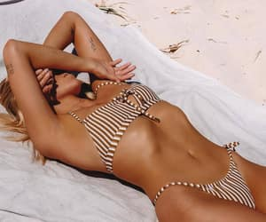 beach, bikini, and tan image