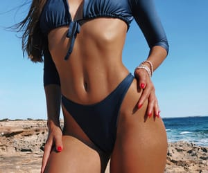 abs, body shape, and fit girl image