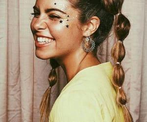 brown girl, girl, and makeup image