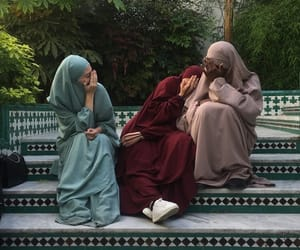 eid, girls, and hijab image