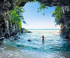beach, nature, and beautiful image