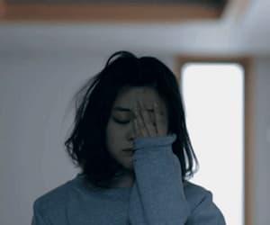 gif, girl, and sad image