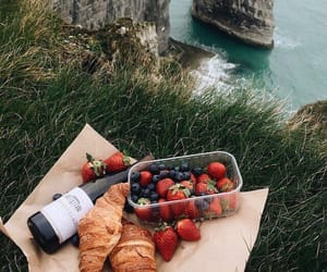 food, strawberry, and picnic image