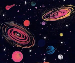 galaxy, space, and planet image