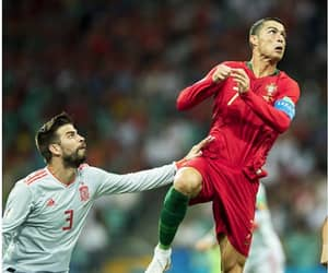 cristiano ronaldo, Flying, and gol image