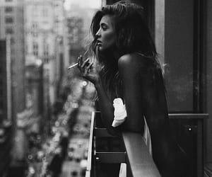 balkon, girl, and blackandwhite image