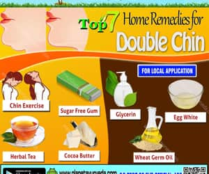 double chin, remedies, and home image