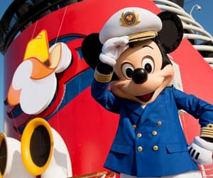 captain, cruise, and mickey mouse image