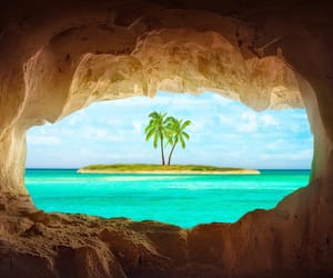 Island, beach, and summer image