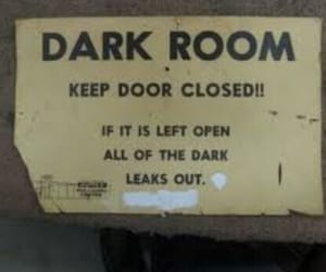 funny, dark, and dark room image