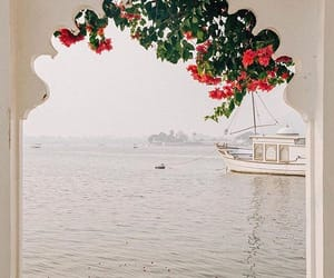travel, boat, and flowers image