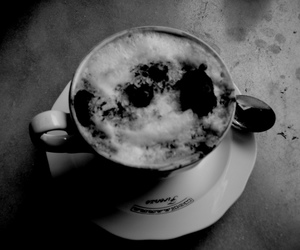 bar, black and white, and breakfast image
