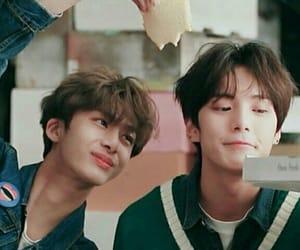 minhyuk, hyungwon, and i.m image