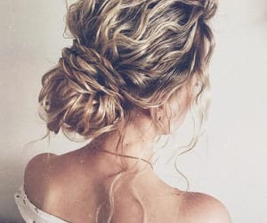 hair, blond, and fashion image