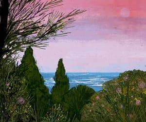 art, landscape, and ocean image