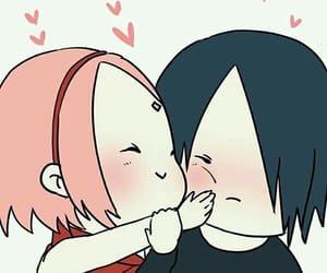 sasusaku, anime, and couple image
