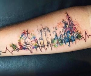 city, tattoo, and colors image
