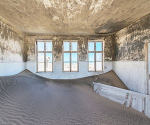 house, sand, and sans image