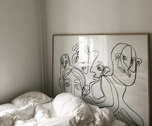 art, interior, and bed image