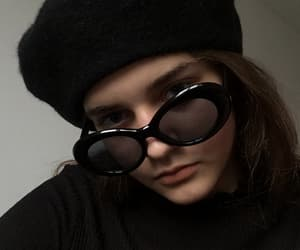 aesthetic, beret, and selfie image