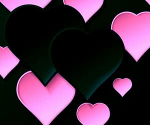 black and pink hear and heart backgrounds image