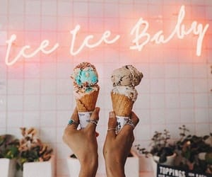 ice cream, food, and neon image