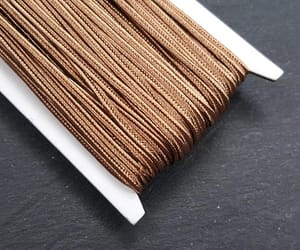 etsy, silk cord, and brown cord image