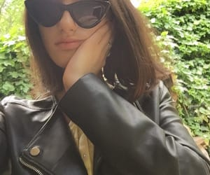 brownhair, model, and sunglasse image