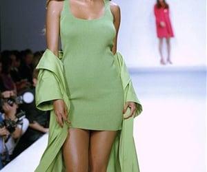 fashion, green, and dress image