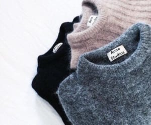 black, pink, and sweater image