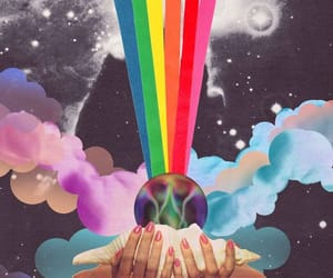 rainbow, art, and trippy image