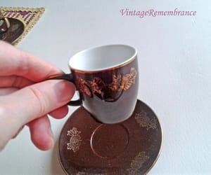 etsy, vintage porcelain, and dark brown image