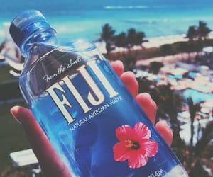 beach, blue, and fiji image