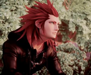 axel, gif, and kingdom hearts image